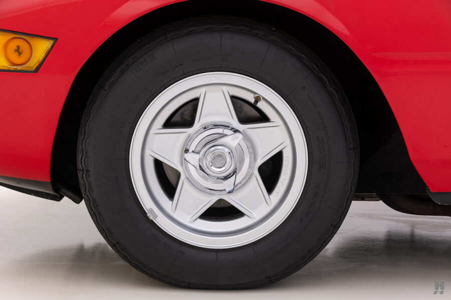 back tire of historic ferrari for sale at hyman classic cars