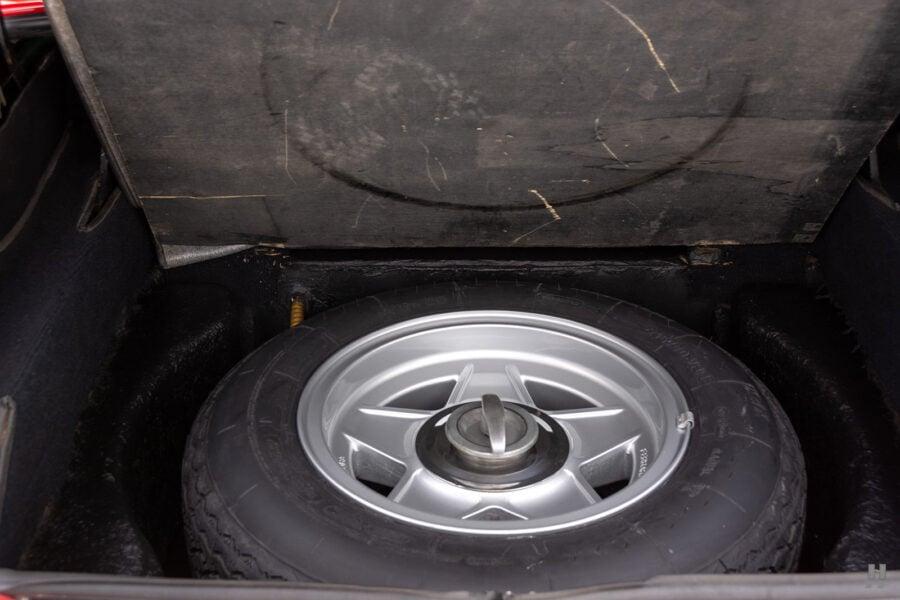 spare tire of historic ferrari for sale at hyman classic cars
