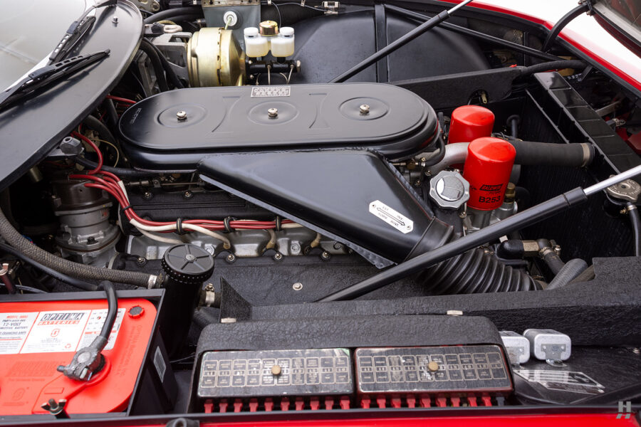 engine of historic ferrari for sale at hyman classic cars
