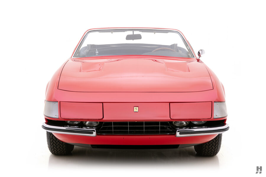 front of historic ferrari for sale at hyman classic cars