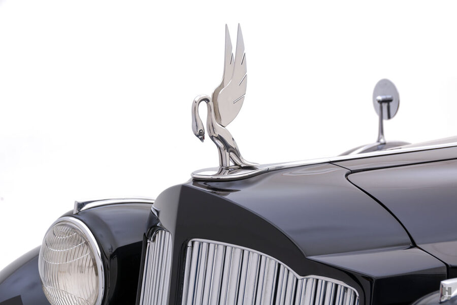 logo on classic 1938 packard coupe for sale - find more cars at hyman dealers