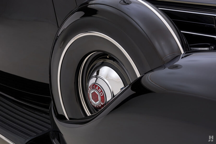 spare tire on classic 1938 packard twelve coupe for sale at hyman dealers online