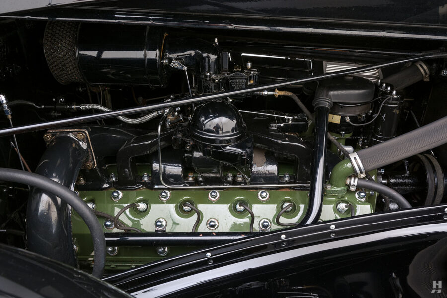 engine on classic 1938 packard coupe for sale - find more cars at hyman dealers