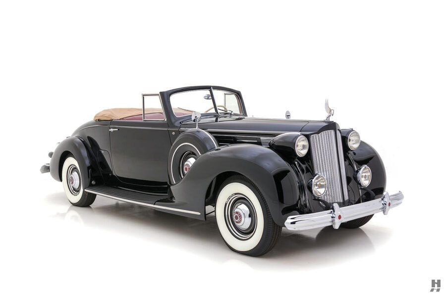 angled front of classic packard twelve coupe for sale - find more cars at hyman consignment dealers