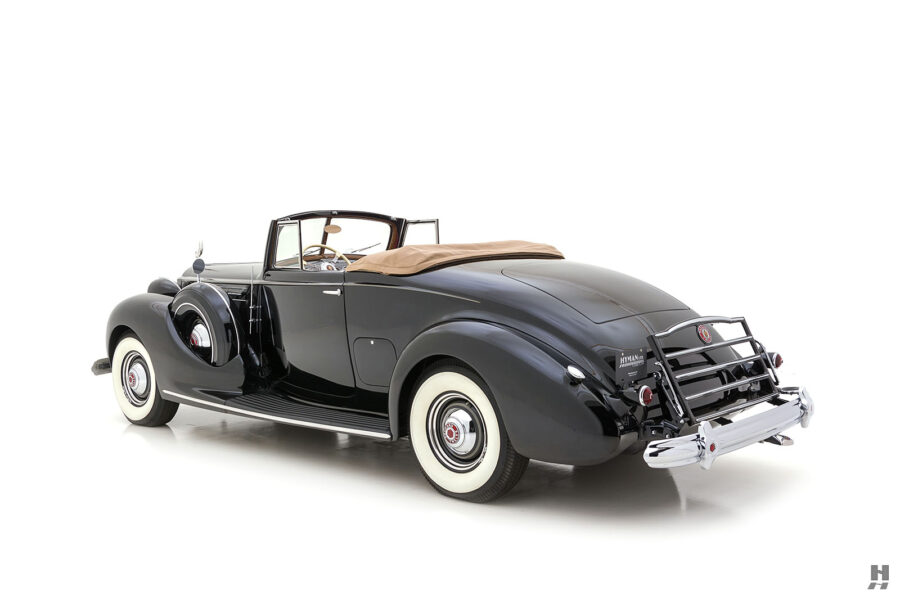 angled backside of classic packard twelve coupe for sale - find more cars at hyman consignment dealers