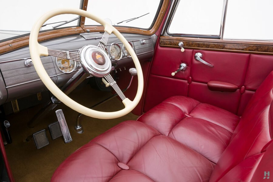 front seats and steering wheel on classic 1938 packard roadster for sale - find more historic cars at hyman