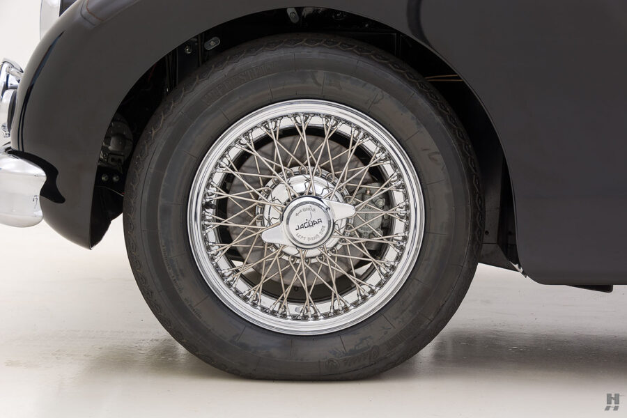 back tire on classic 1959 jaguar for sale at hyman car dealers