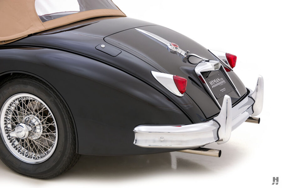 angled side view of classic 1959 jaguar for sale at hyman car dealers