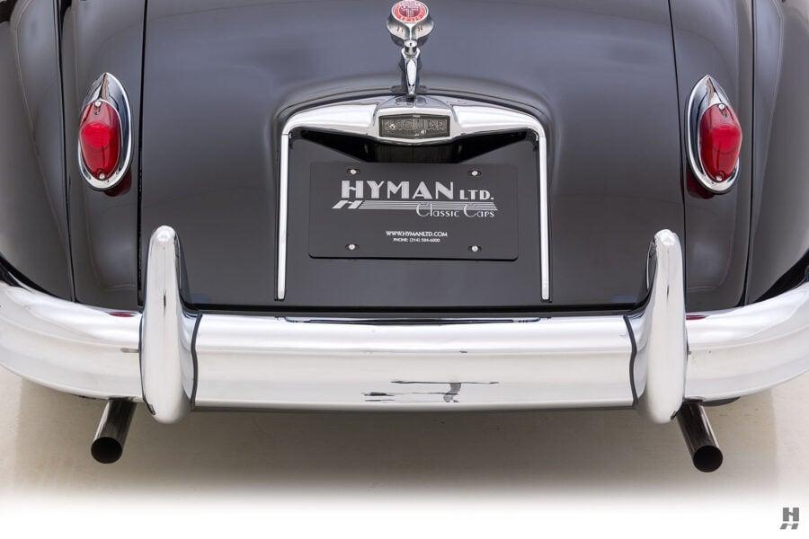 back of classic 1959 jaguar roadster for sale at hyman car dealers