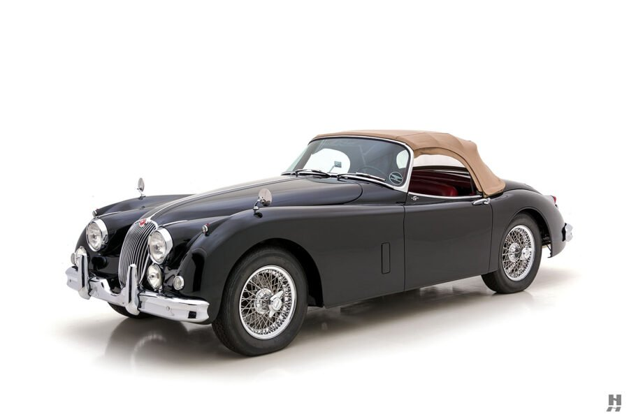 angled frontside view of classic 1959 jaguar - find more cars for sale at hyman automobile dealers