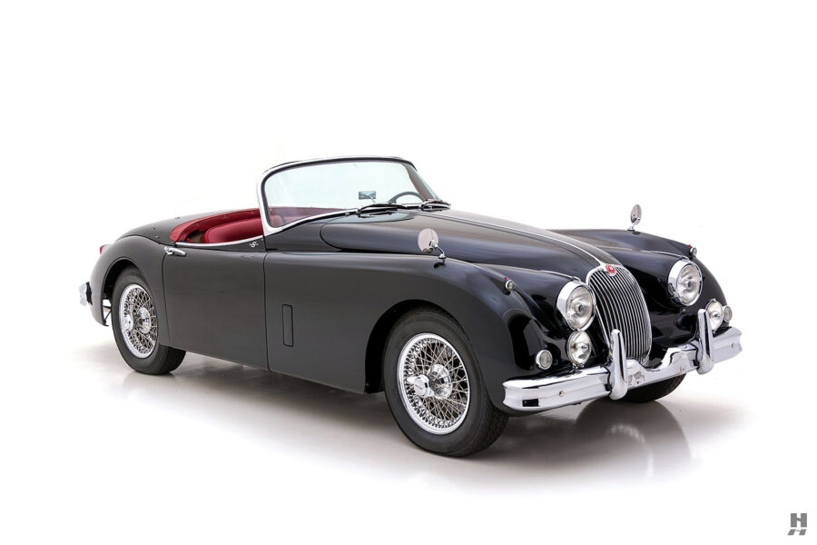 angled frontside view of classic 1959 jaguar - find more cars at hyman dealers