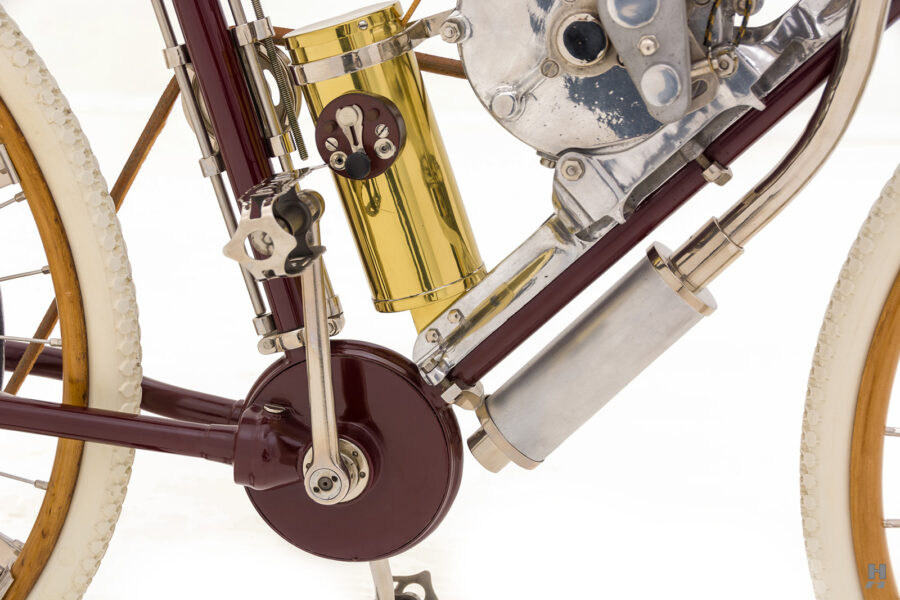 pedals and pipes on vintage 1901 thomas auto bike for sale at hyman