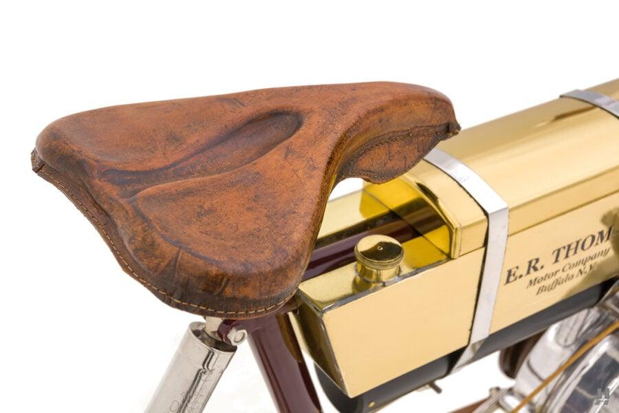 seat on vintage 1901 thomas auto bike for sale at hyman