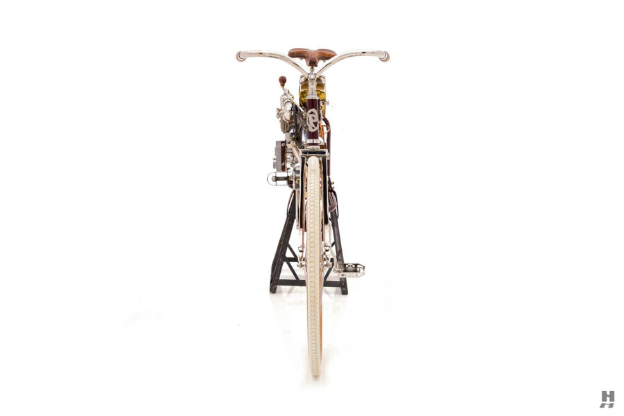 front of classic 1901 er thomas auto bike for sale at hyman cars