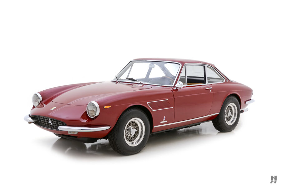 angled frontside of old 1967 ferrari for sale at hyman classic cars