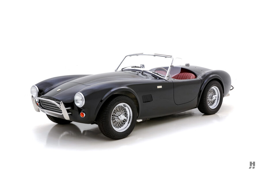 front of vintage 1962 shelby cobra car for sale at hyman in st. louis