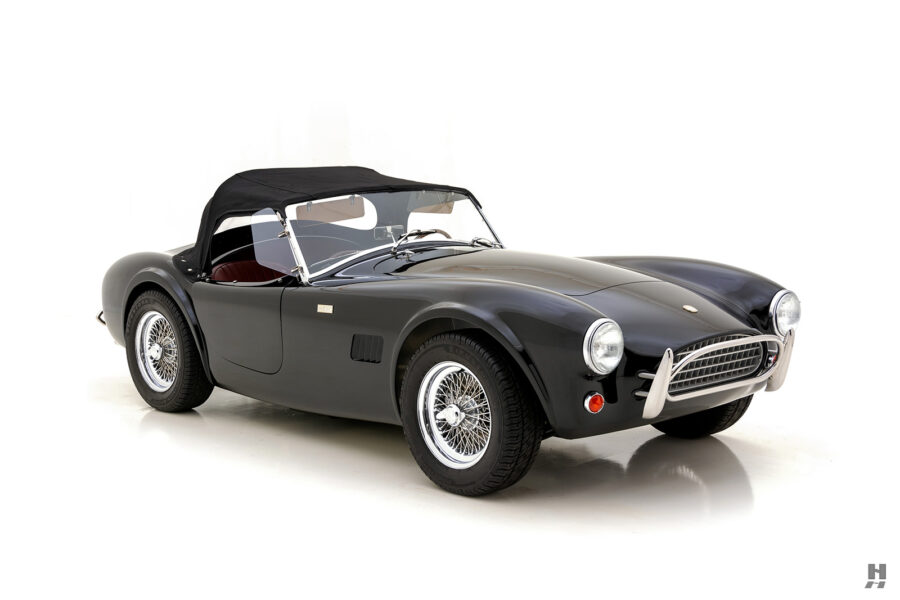 front of vintage 1962 shelby cobra car for sale online at hyman