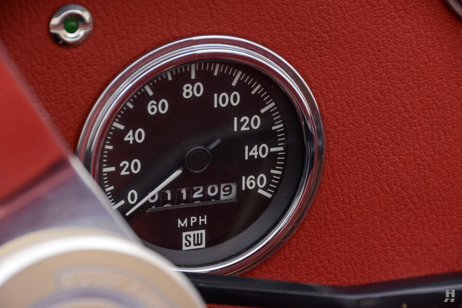 speedometer of vintage 1962 shelby convertible car for sale at hyman