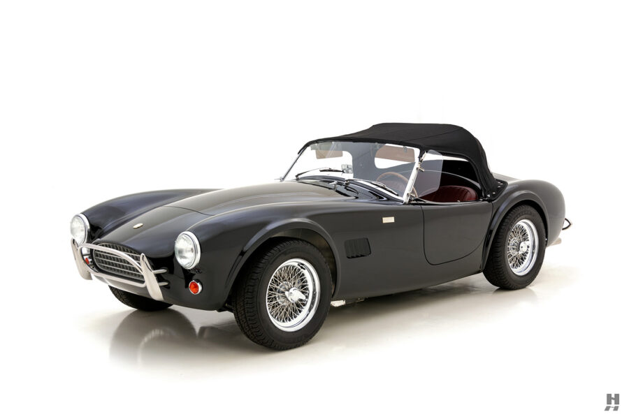 angled front view of classic 1962 shelby cobra for sale online at Hyman