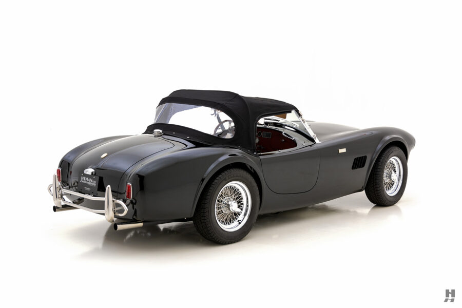 side view of classic 1962 shelby cobra convertible for sale at Hyman
