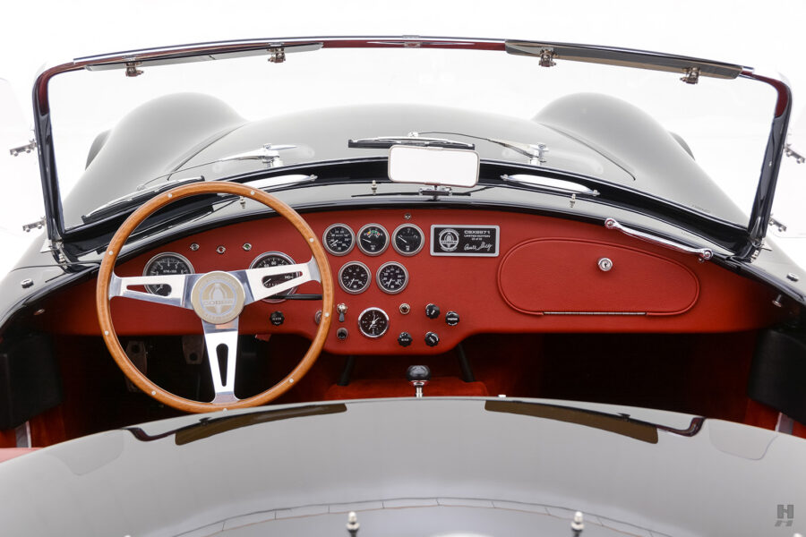 front dashboard of vintage 1962 shelby cobra car at hyman