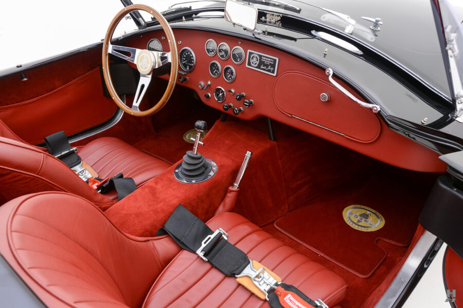 front interior of vintage 1962 shelby cobra car for sale at hyman dealers