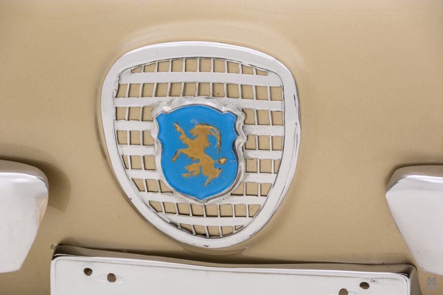 abarth logo on vintage 1961 abarth coupe at hyman