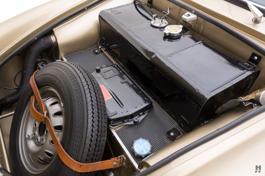 front hatch of vintage 1961 abarth coupe at hyman