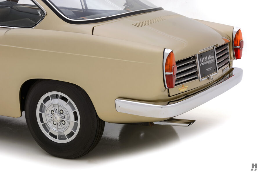 side view of back of vintage 1961 abarth coupe car for sale