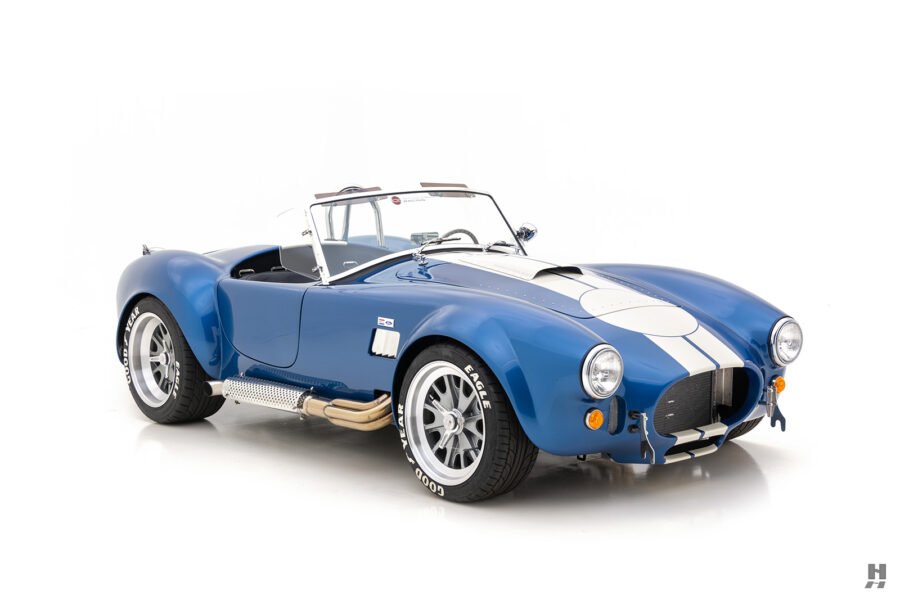 angled front side view of 1965 backdraft cobra for sale at hyman classic car dealers