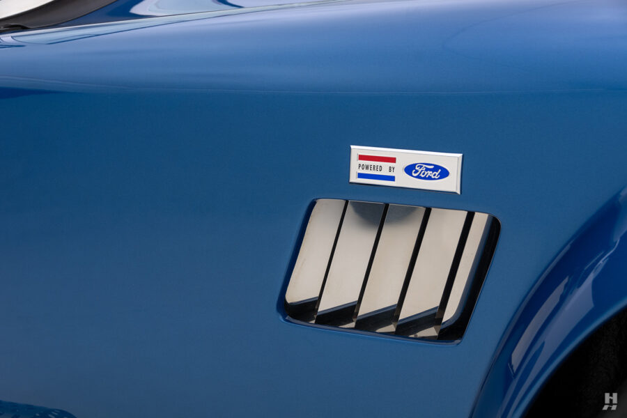 ford logo on vintage 1965 backdraft cobra from hyman classic cars