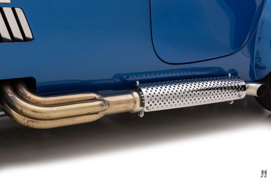 tail pipe of vintage 1965 backdraft cobra from hyman classic cars