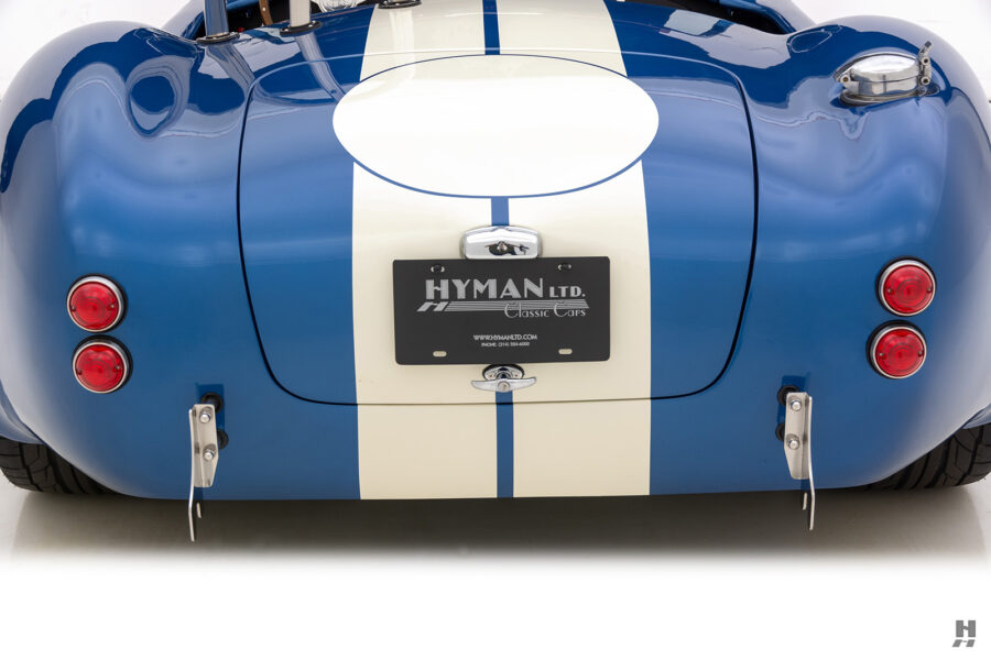 back of vintage 1965 backdraft cobra from hyman classic cars