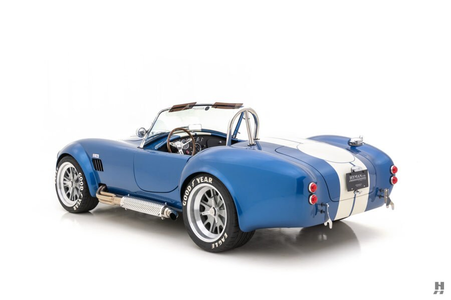 angled back side view of 1965 backdraft cobra for sale at hyman classic car dealers