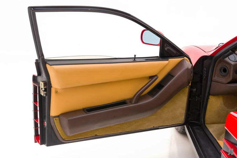 driver's door of classic 1990 ferrari for sale - find more historic cars at hyman