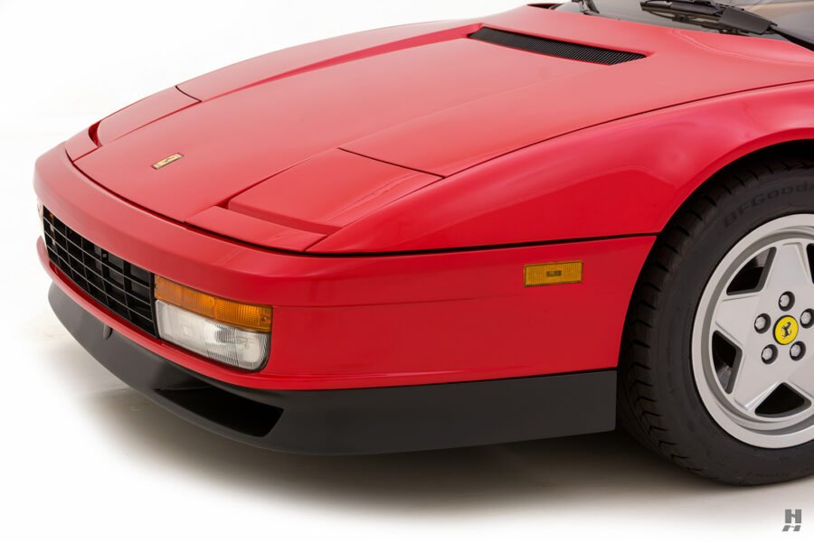 front side of classic 1990 ferrari testarossa for sale at hyman consignment dealers