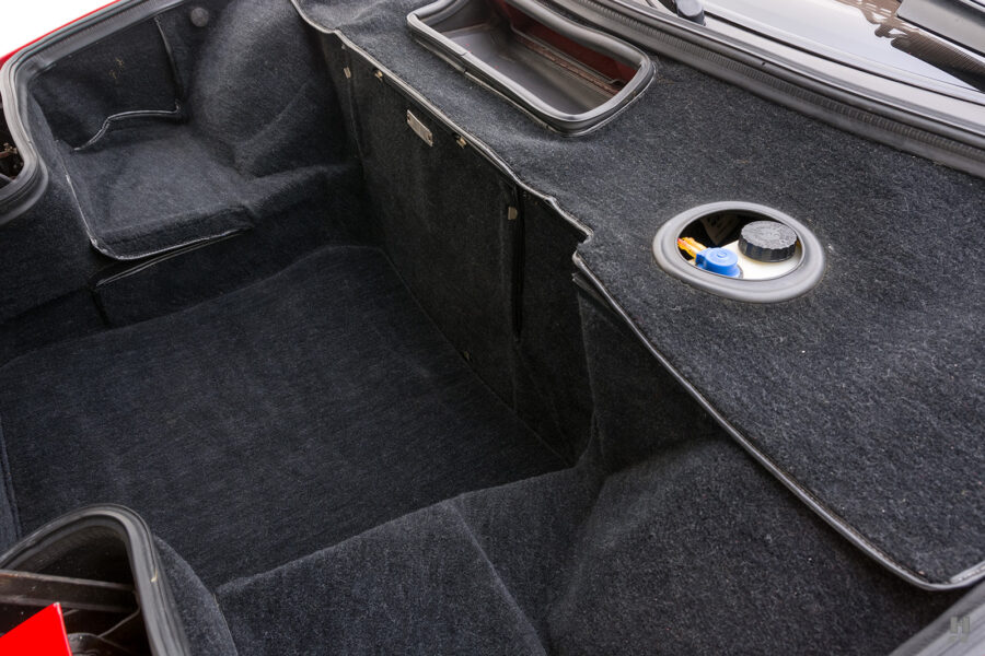 trunk bed of classic 1990 ferrari for sale at hyman consignment dealers