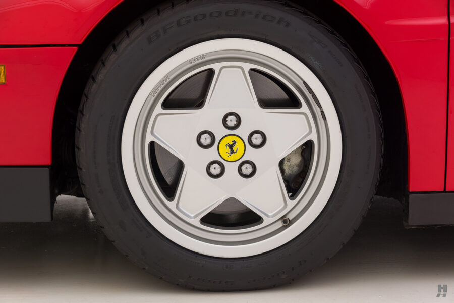 back tire on classic 1990 ferrari car for sale at hyman consignment dealers