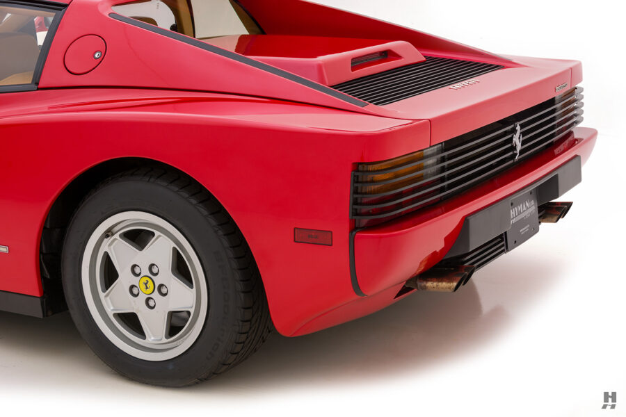 angled backside of classic 1990 ferrari testarossa for sale - find more historic cars at hyman