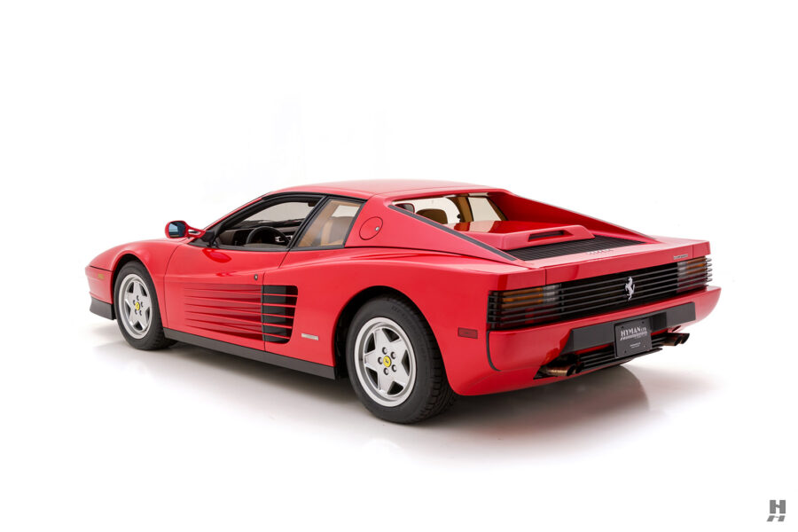 angled backside view of classic 1990 ferrari for sale - find the price online