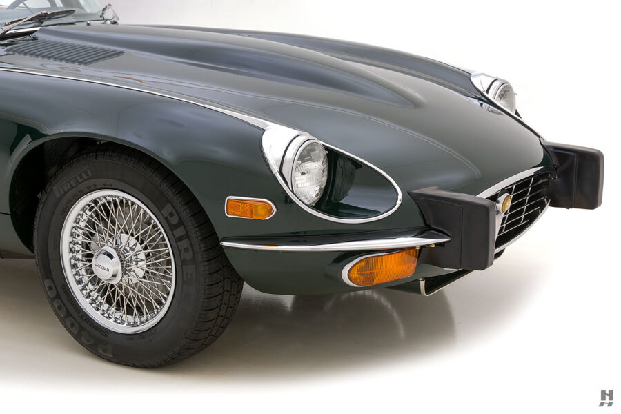 side view of vintage jaguar roadster for sale at hyman classic cars