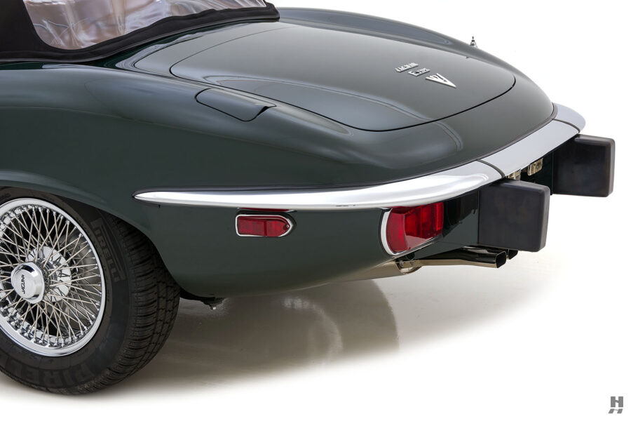 back side view of vintage jaguar roadster for sale at hyman classic cars