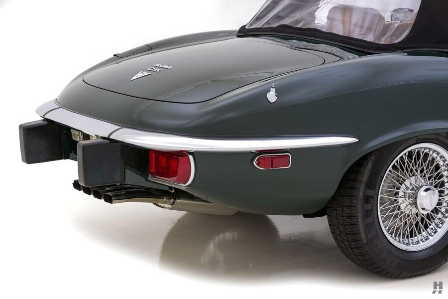 back side of vintage jaguar roadster for sale at hyman classic cars