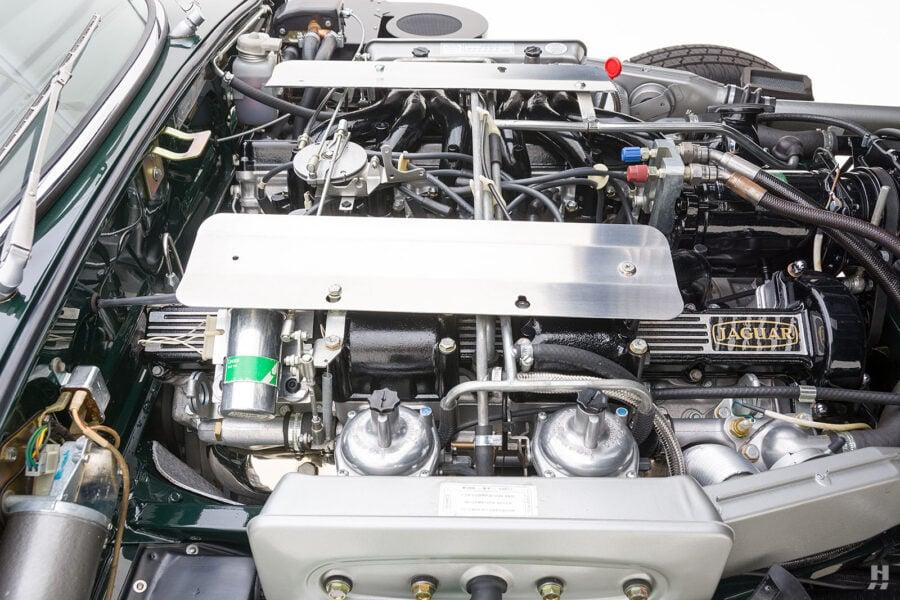 engine of vintage jaguar roadster for sale at hyman classic cars