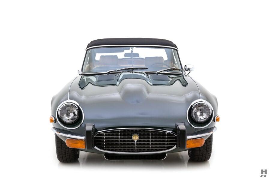 frontside of vintage jaguar roadster for sale at hyman classic cars
