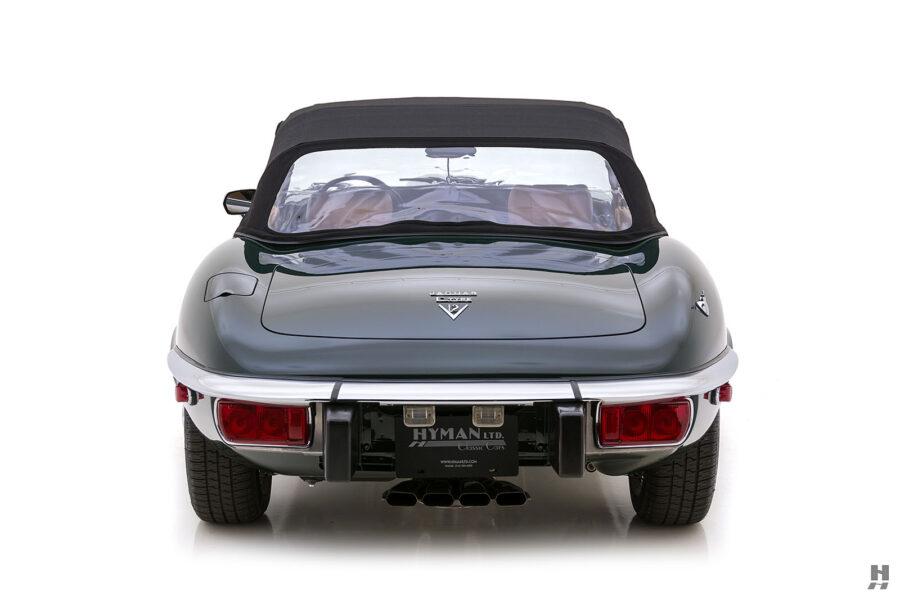 backside of vintage jaguar roadster for sale at hyman classic cars
