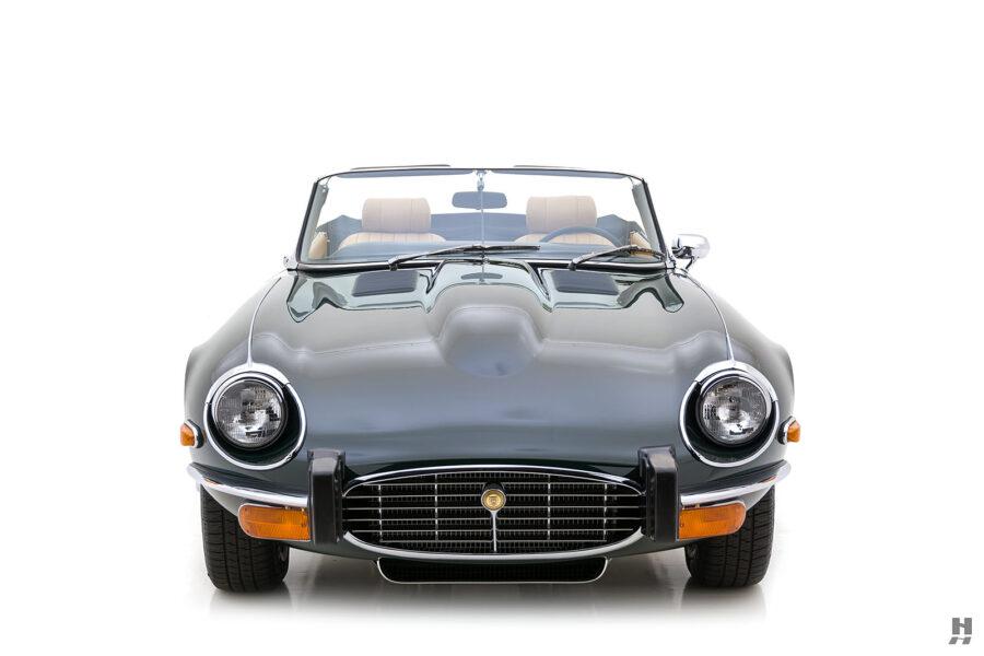 front of vintage jaguar roadster for sale at hyman classic cars