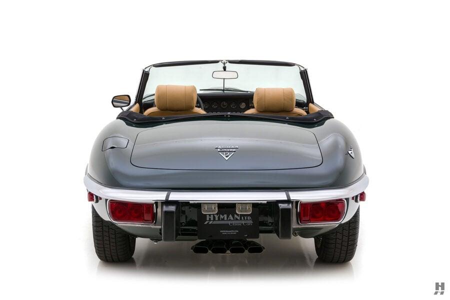 back of vintage jaguar roadster for sale at hyman classic cars