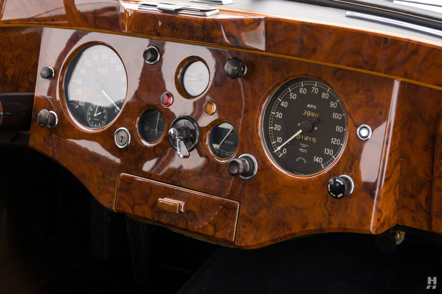 dashboard of antique jaguar coupe for sale at hyman classic dealers
