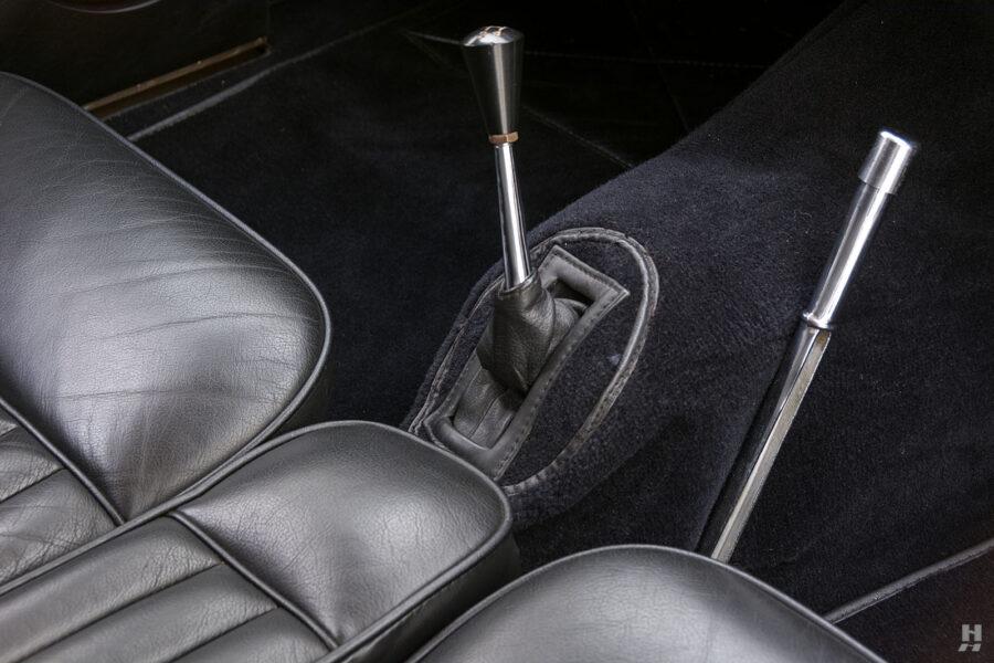 gear shifter on antique jaguar coupe for sale at hyman classic dealers